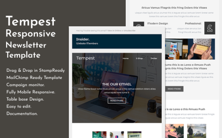 Tempest - Responsive Email Newsletter Template