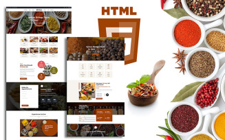 Masala Organic Spices Responsive Shop Website Template