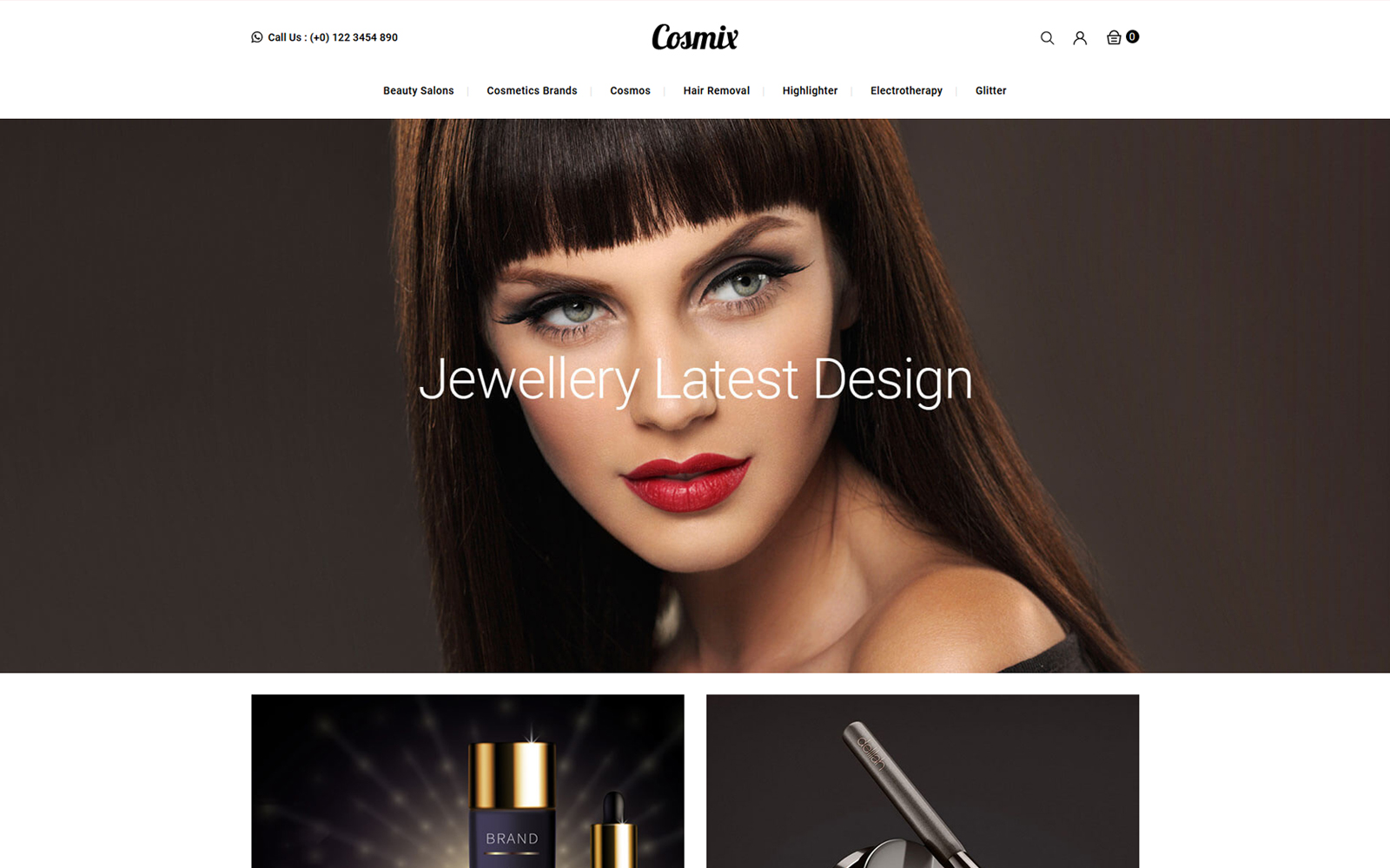 Cosmix - Cosmetic and Beauty Store Tema PrestaShop №150821