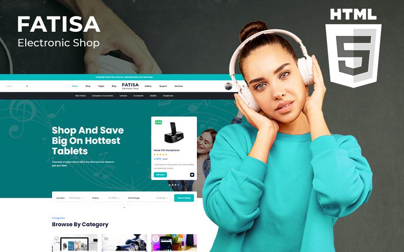 """""""Fatisa - Electronics"""" Responsive Website template №150824"""