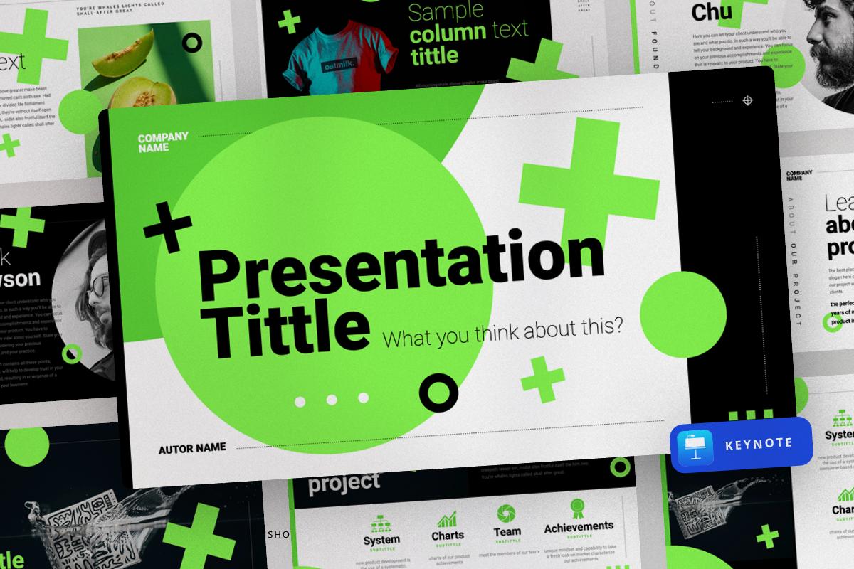 "Modello Keynote #150815 ""Green Modern Presentation"""