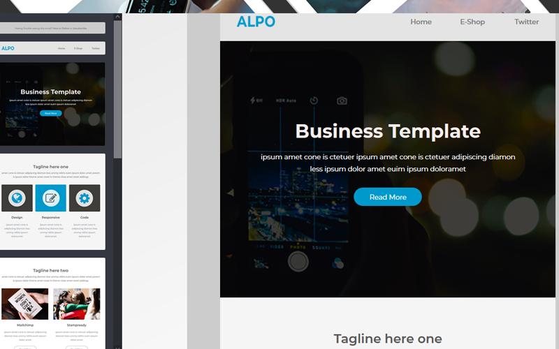 """Responzivní Newsletter šablona """"Alpo - Responsive Email"""" #150831"""