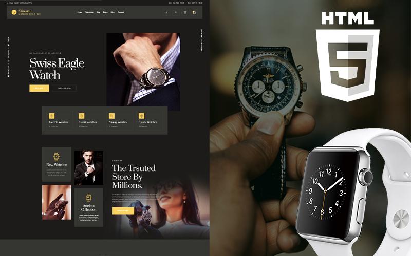 """Smatch - Watch Store"" - адаптивний Шаблон сайту №150822"
