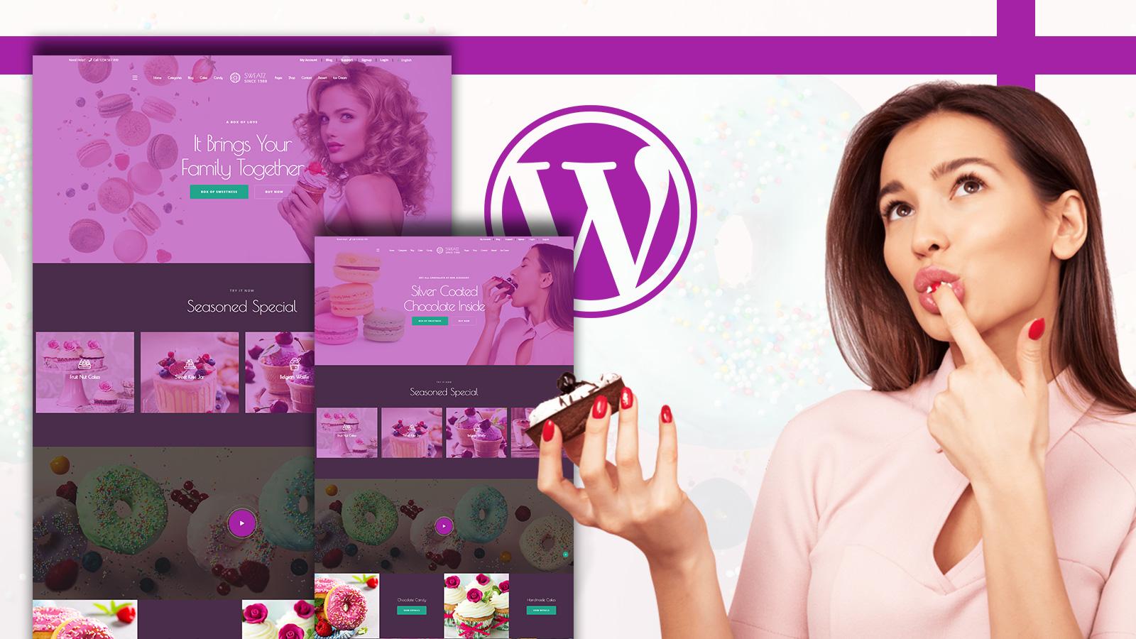 "Template WooCommerce Responsive #150820 ""Sweatz - Sweet Shop WordPress"""