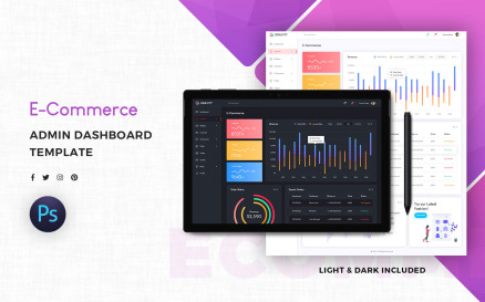 E-Commerce Admin Dashboard UI Element