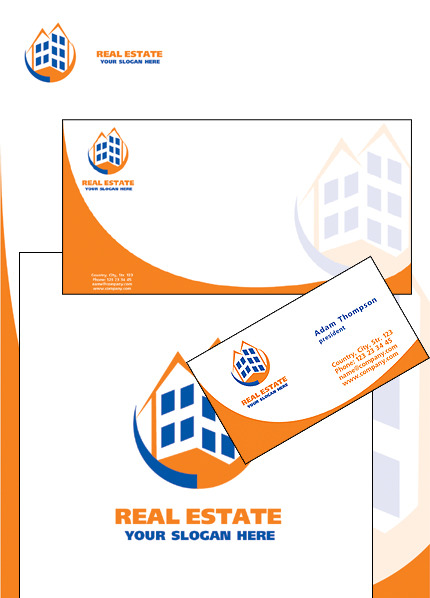 Real Estate Corporate Identity Template Vector Corporate Identity preview