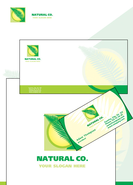 Herbal Corporate Identity Template Vector Corporate Identity preview