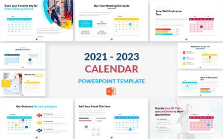 2021 - 2023 Calendar PowerPoint Template