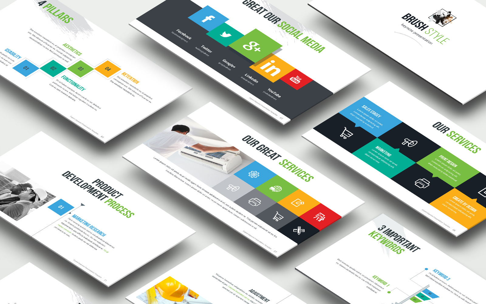 Expart  Presentation Bright Variation Template PowerPoint №151181