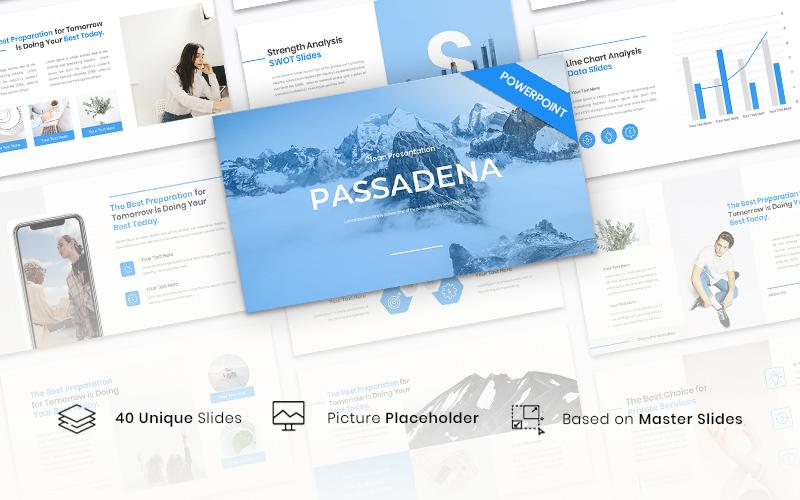 """""""Passadena - Clean"""" modèle PowerPoint Premium #151149"""