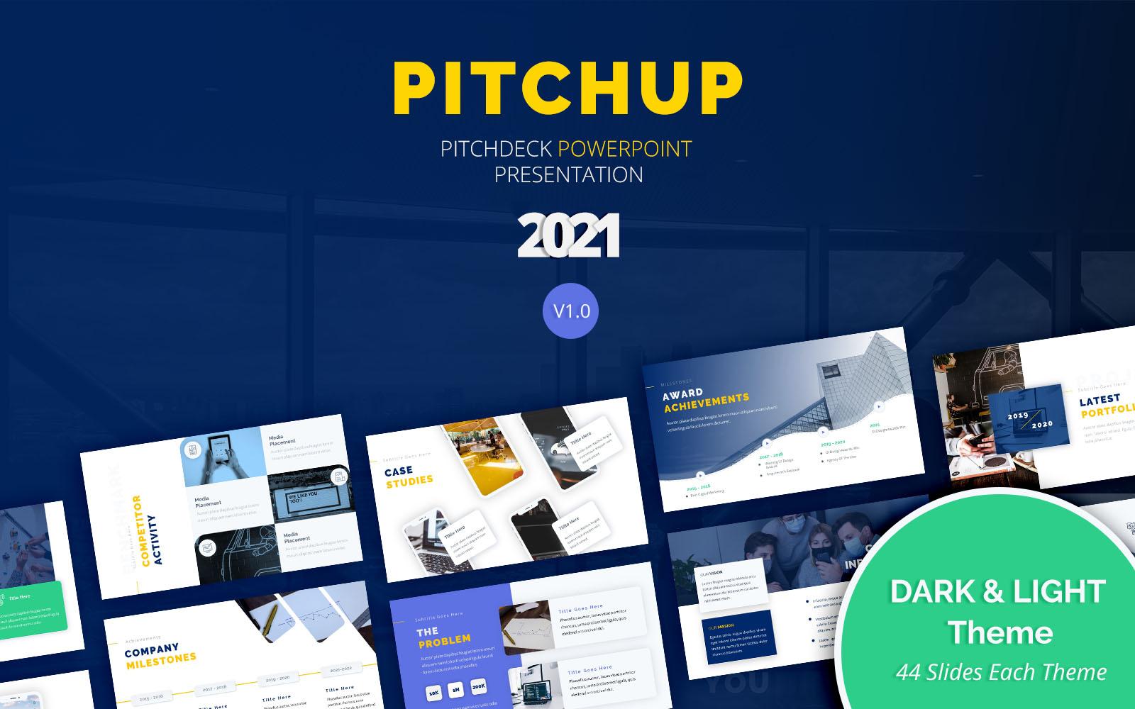 "PowerPoint šablona ""Pitchup – Pitch Deck"" #151198"