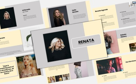 Renata - Creative Business PowerPoint template PowerPoint Template