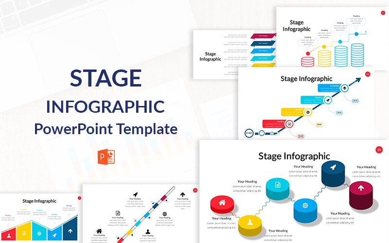 Stage Infographic Template PowerPoint №151196
