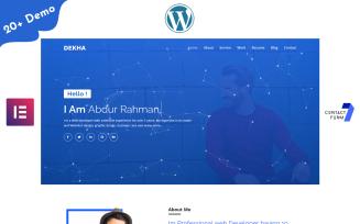 Dekha-Portfolio/Resume/CV One page WordPress Elementor Theme
