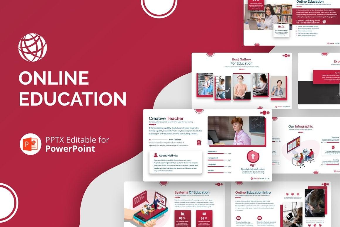 Online Education  Presentation Template PowerPoint №151211