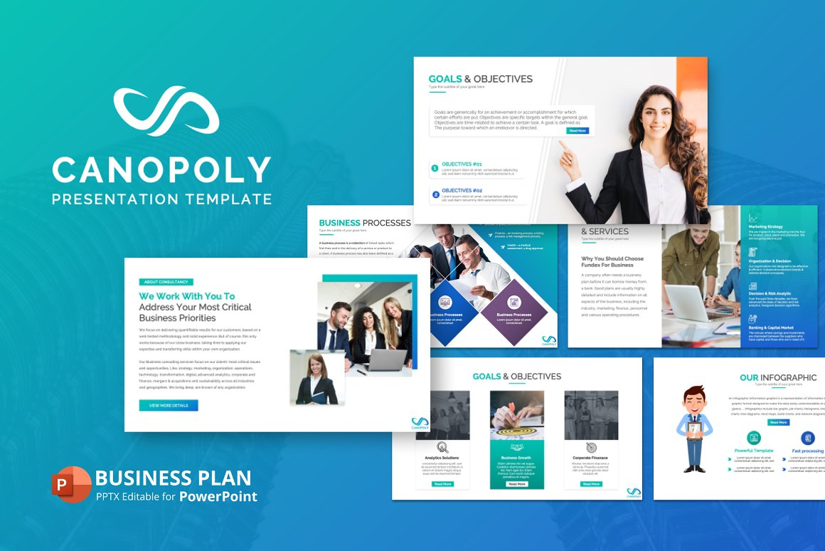 "Plantilla PowerPoint ""Canopoly Business Plan  Presentation"" #151219"