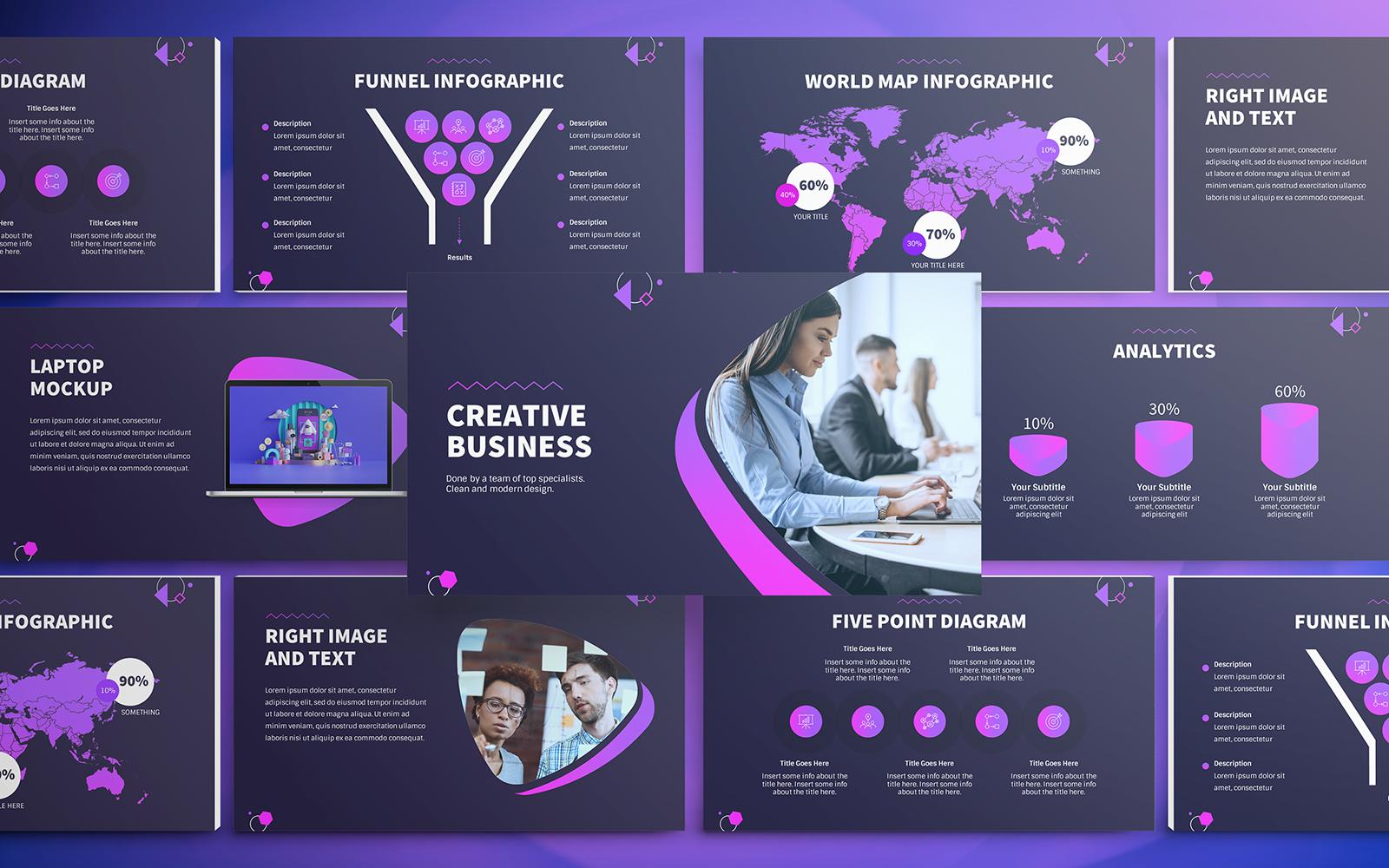 "Plantilla PowerPoint ""Creative Business"" #151210"