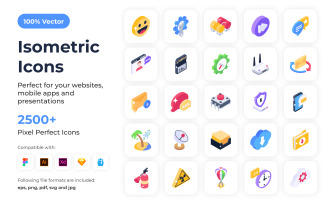 2500+ Isometric Icon Set