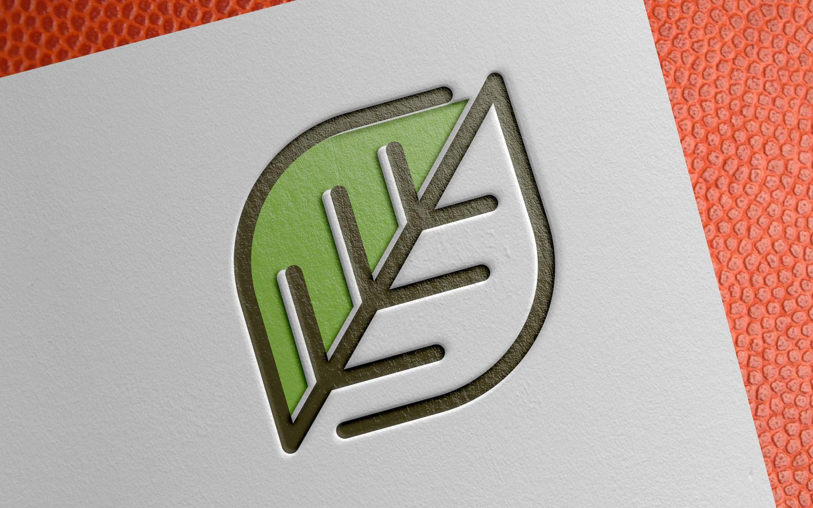 Modern Green Leaf Template de Logotipo №151425