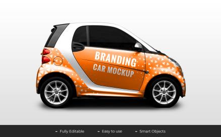 Car Branding Product Mockup