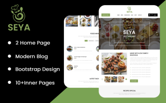 Seya Restaurant Landing Page
