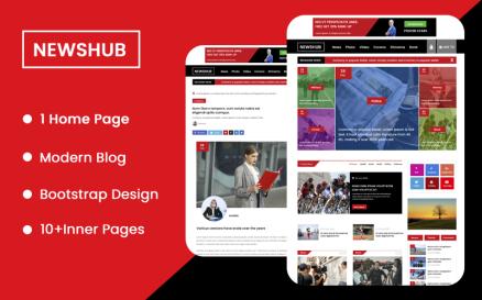 NewsHub Landing Page PSD Template