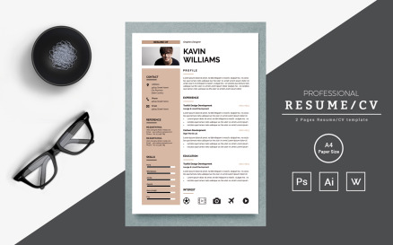 Free Clean and creative Modern Resume Template