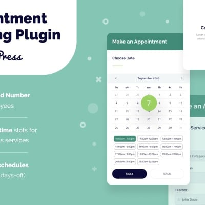 "Плагин WordPress ""Appointment Booking WordPress Plugin"" #151673"