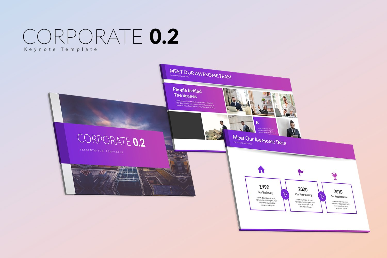 "Template Keynote #151606 ""Corporate 0.2"""