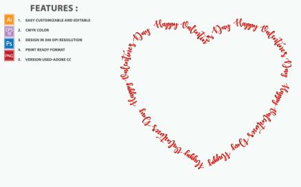 Valentine Day Heart Vector Design Illustration