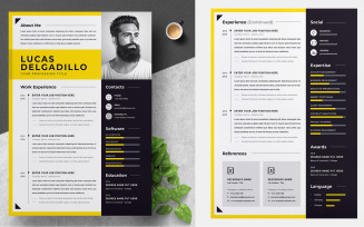 Minimal Yellow CV