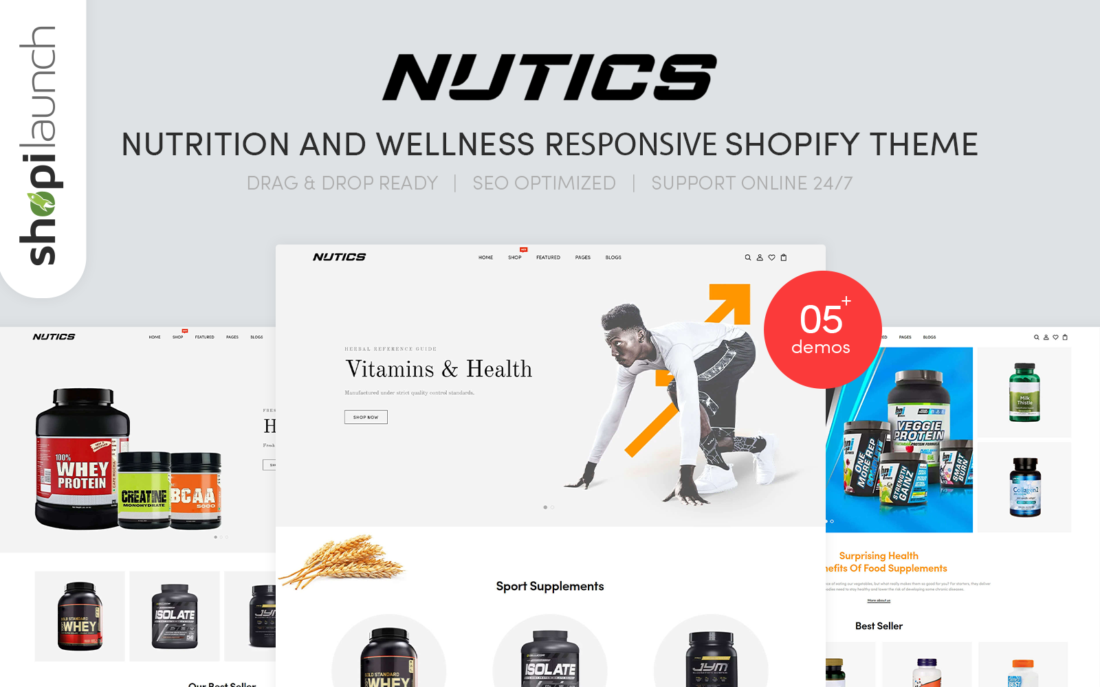 Nutics - Nutrition and Wellness Responsive Shopify Theme
