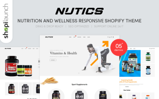 Nutics - Nutrition and Wellness Responsive Shopify Theme