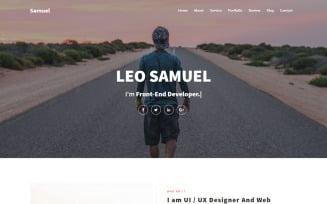 Samuel - Personal Portfolio Landing Page Template