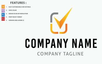 Check Mark IT Company Vector Design Logo Template