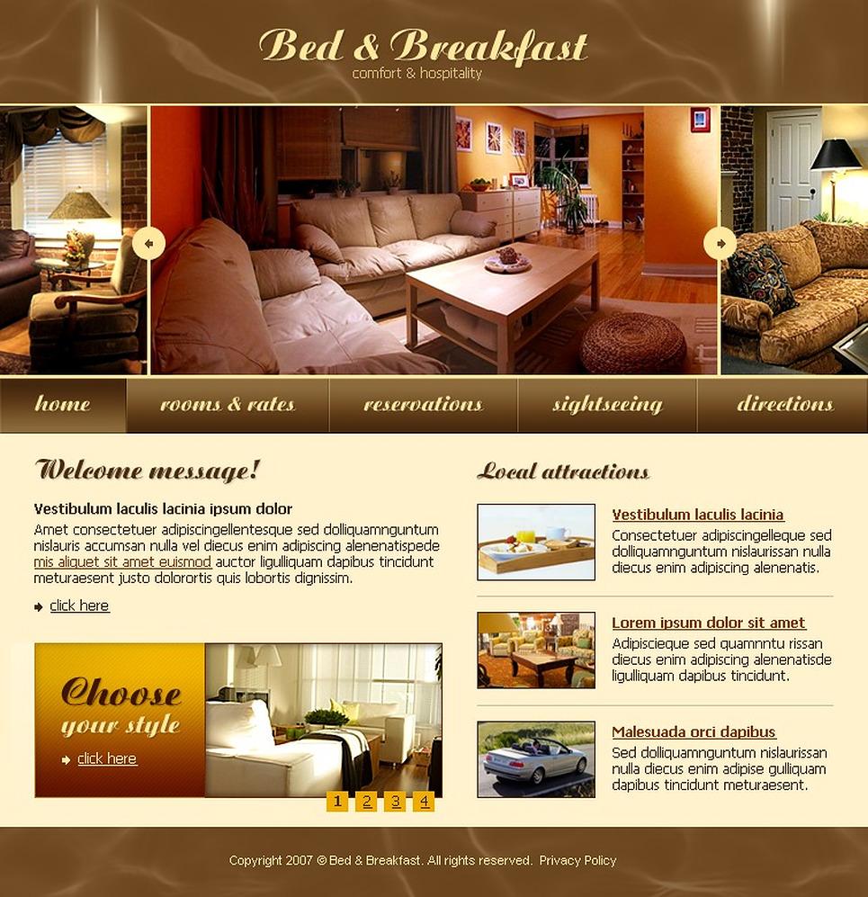 Mod le web 15225 pour site d 39 h tel for Site web pour hotel
