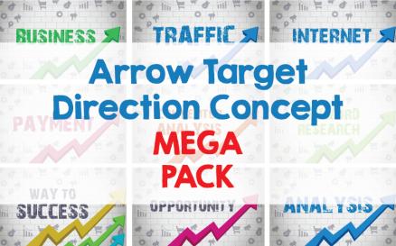 Arrow Target Direction Concept Mega Pack Illustration