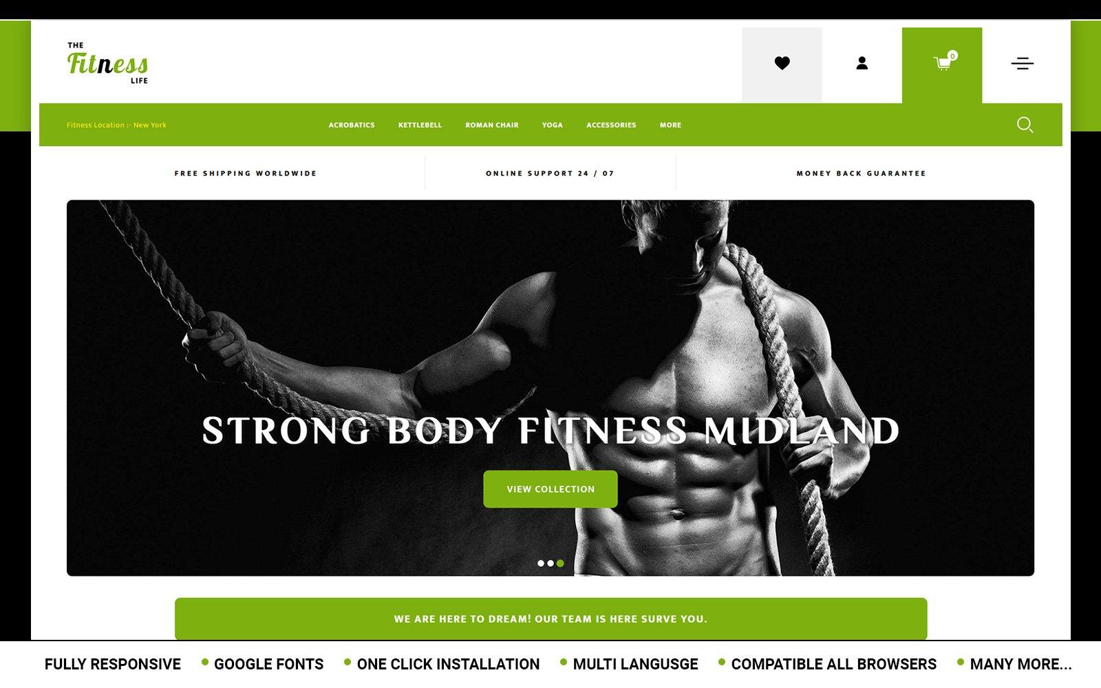 """Fitnesslife - Beauty Store"" - адаптивний OpenCart шаблон №152092"
