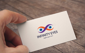Infinity Eyes Logo Template