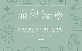 Covid-19 Line Icons Set