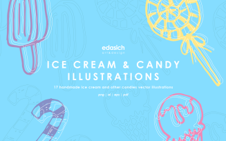 Ice Cream and Candies Icons Set