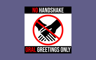 No Handshake Illustration Design