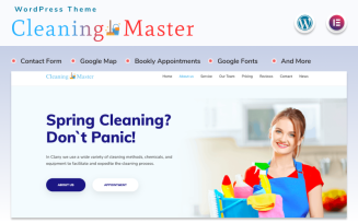 Cleaning Master - Landing page