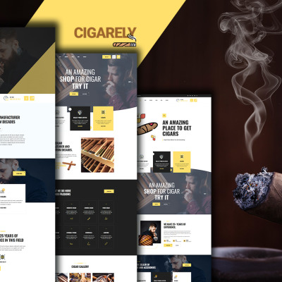 Cigarely - Cigar Shop Website Template #152276