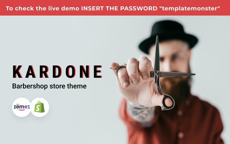 """Kardone Barbershop eCommerce Template"" Responsive Shopify Thema №152280"