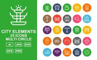 25 Premium City Elements Multi Circle