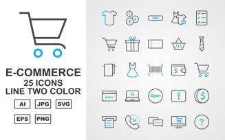 25 Premium E-Commerce Line Two Color