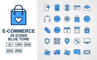 25 Premium E-Commerce Blue Tone