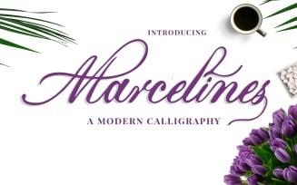 Marcelines A Modern Calligraphy Font