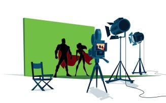 Superhero Movie Set